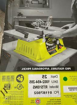 "Ryobi 10"" Table Saw 15 Amp Motor 24 Tooth Carbide Blade"