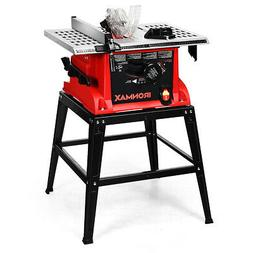 "10"" Table Saw Electric Cutting Machine Aluminum Tabletop Woo"