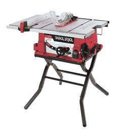"10"" Table Saw Portable Jobsite Power Tool With Heavy Duty Fo"