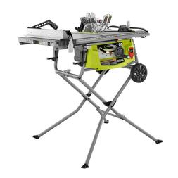 RYOBI 15 Amp 10-inch Expanded Capacity Table Saw With Rollin