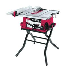 15 Amp Corded Electric 10 in. Table Saw with Folding Stand