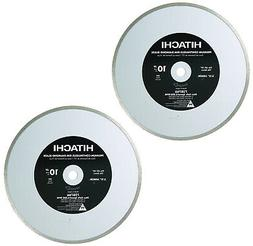 Hitachi 2 Pack of OEM 10in Wet and Dry Tile Diamond Blade #