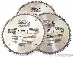 """3 ATE PRO 10"""" CIRCULAR TABLE MITER SAW BLADES 80T 80 TOOTH C"""