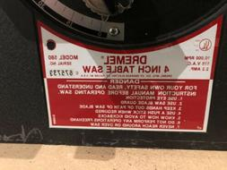 "DREMEL 4"" TABLE SAW MODEL 580 - GREAT CONDITION"