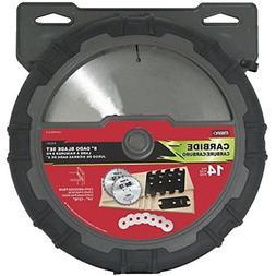 """MIBRO 416381 8"""" Carbide Stacking Dado Blade Set - 14 Pieces"""