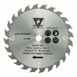 "6 Neiko Carbide Tipped Saw Blades 7-1/4"" X 24 Tooth"