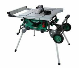Hitachi C10RJ 10 inch Jobsite Table Saw with Fold Roll Stand