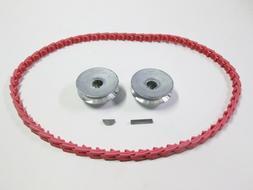 "Craftsman Table Saw Belt & Pulley Kit 2 1/2"" Pulleys  Keys &"