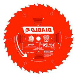 "Freud D1024X Diablo 10"" x 24-Tooth Ripping Circular Saw Blad"