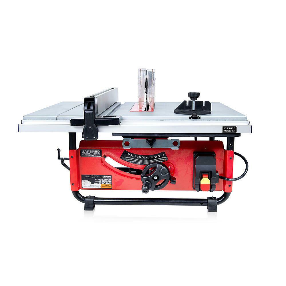 10 Inch Benchtop and Portable Contractor Table Saw Jobsite C