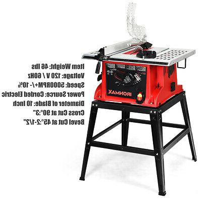 "10"" Table Cutting Machine Woodworking Station"