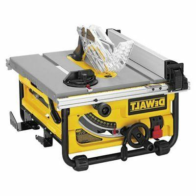 10 in compact jobsite table saw dw745