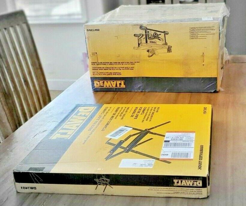 DEWALT DW7485 8-1/4 saw + Table Stand