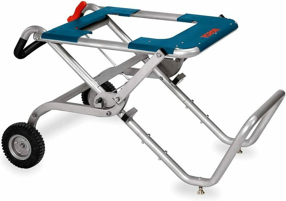 Gravity Rise Table Saw Stand Wheels Portable Folding Heavy D
