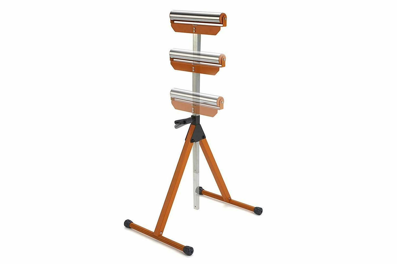portable feed roller support stand steel pedestal