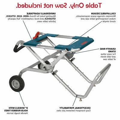 table saw stand portable folding gravity rise