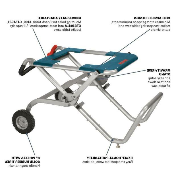 Portable Folding Gravity Table Stand With Wheels