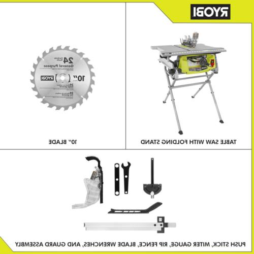 RYOBI Portable Table 10 in. 15 Motor Blade Stand