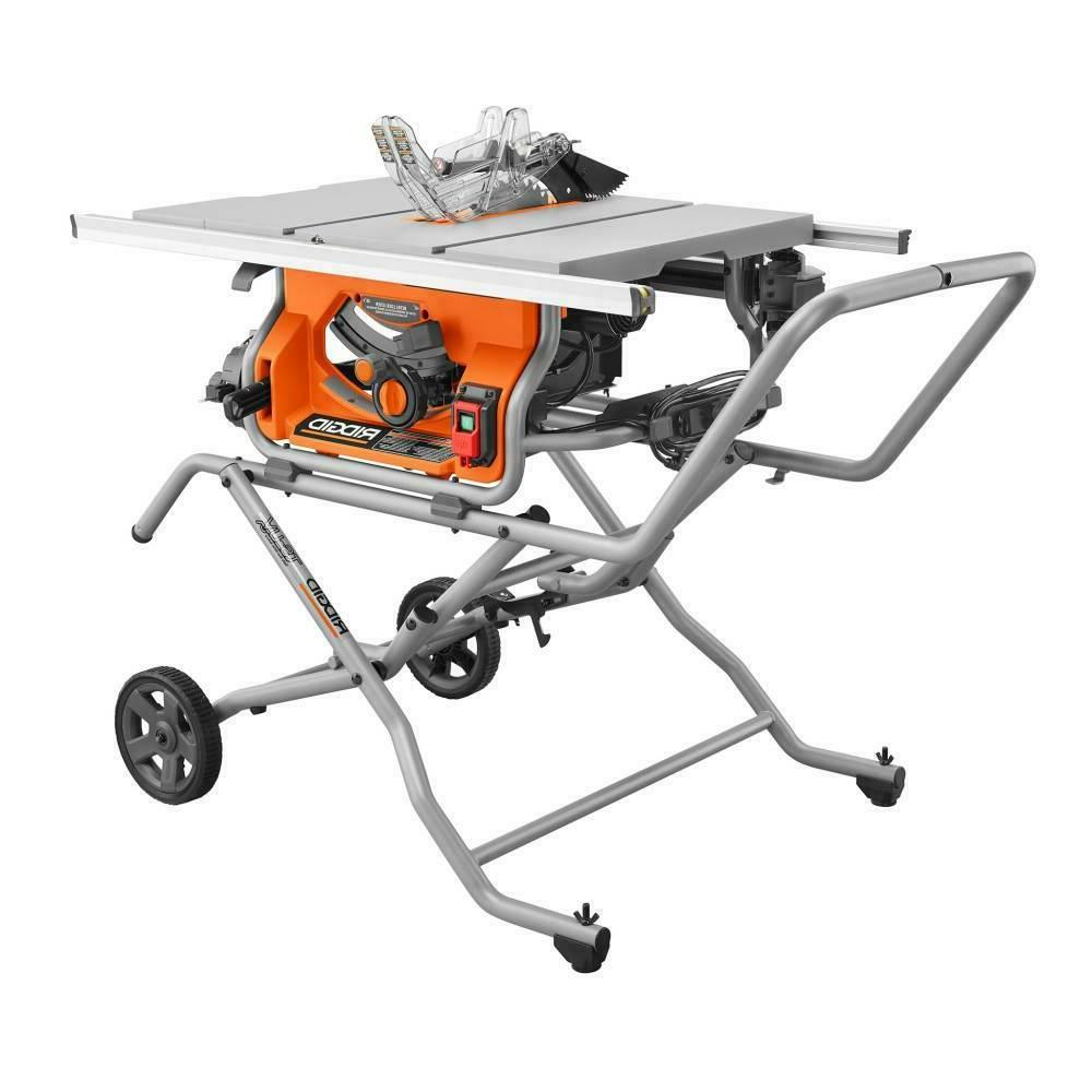 pro jobsite table saw with stand 10