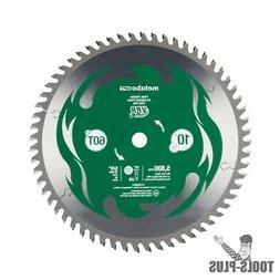 "Metabo-HPT 115435M 10"" Miter Saw/Table Saw Blade 60T Fine Fi"