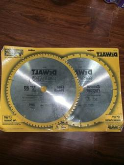 "NEW 12"" 80T 32T 2-Pack 12 Inch Saw Blade Carbide Table Saw B"