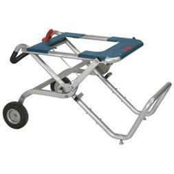 Portable Folding Gravity Rise Table Saw Stand With Wheels