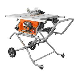 Pro Jobsite Table Saw With Stand Ridgid 10 In Heavy Duty Saw