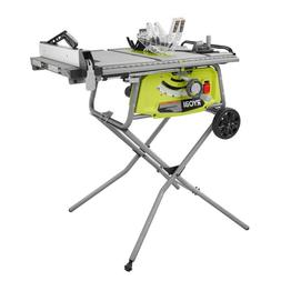 Ryobi Table Saw with Rolling Stand Woodworking Powerful 15 A