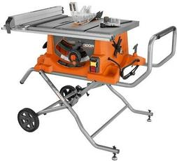 Table Saw with Stand RIDGID Power Tool 15 Amp Corded 10 inch