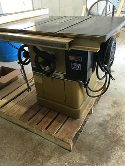 used 66 table saw 5hp 208 230