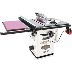 "Shop Fox W1851 2 HP 10"" Hybrid Cabinet Table Saw with Extens"