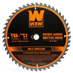 WEN Woodworking Saw Blade for Miter Table Saws 12 Inch 48 To
